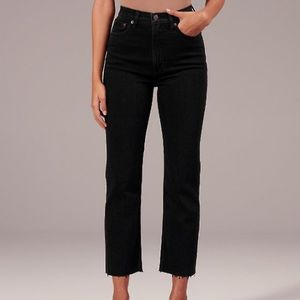 Abercrombie high rise straight jeans!!